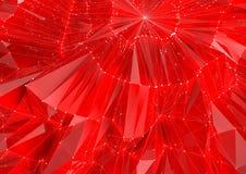 Låg Poly röd reflekterande bakgrund Royaltyfri Fotografi