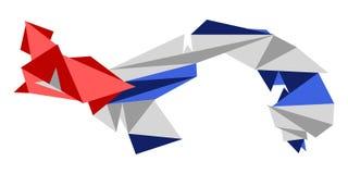 Låg Poly stilöversikt av Kuban vektor illustrationer