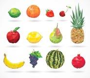 Låg-poly stil för frukt Royaltyfri Fotografi