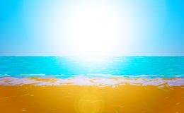 Låg Poly strand Royaltyfri Foto