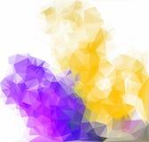 Låg poly triangulär bakgrund Arkivbilder