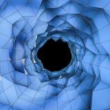 Låg poly tunnel Arkivbild