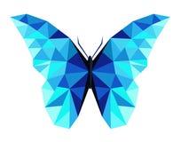 Låg poly vektor för abstrakt polygonal fjäril royaltyfri foto