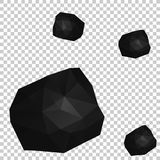 Låg Poly vektorillustration av en vagga Arkivbild