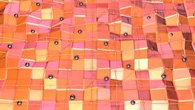 Låg poly yttersida 3D med flygraster- eller ingrepps- och svartsfärer som företags bakgrund Mjukt geometriskt lågt poly stock illustrationer