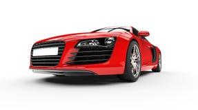 Låg sikt för röda Supercarbillyktor Arkivbild