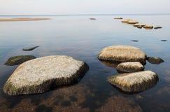 låg tide för kust Royaltyfri Fotografi