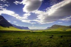 Låglandsikt av Island Royaltyfri Foto