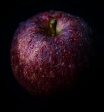Lågt nyckel- foto av det nya röda äpplet Arkivfoto