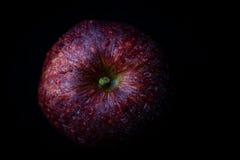 Lågt nyckel- foto av det nya röda äpplet som ses från över Fotografering för Bildbyråer