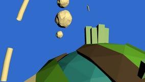 Lågt Poly jordklot stock illustrationer