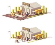 Lågt poly lager för vektor stock illustrationer