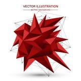 lågt pricker fodrar polygonal geometrisk form 3D med att förbinda och Royaltyfri Foto