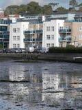 Lågvatten i den Poole hamnen, Dorset Royaltyfri Foto