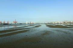 Lågvatten i hamnen, Durban Sydafrika Royaltyfri Fotografi