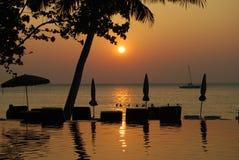 Lågvatten på ön av Koh Chang Royaltyfria Bilder