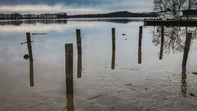 Lågvatten på stånghamnen på den Bush flodAbingdon medicine doktorn arkivfilmer