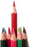 lång blyertspennared fotografering för bildbyråer