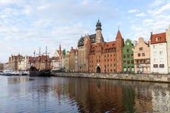 Lång brostrand i Gdansk Fotografering för Bildbyråer