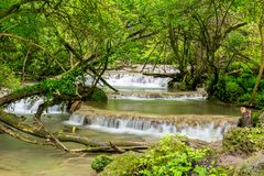 Lång Bulgarien för exponeringsvårKrushunski vattenfall Fotografering för Bildbyråer