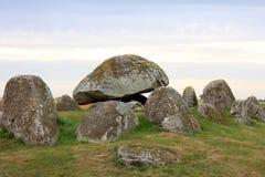 Lång dolmen i Skegrie, Sverige Arkivbilder