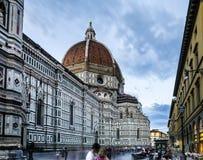 Lång exponering av Florence Cathedral fotografering för bildbyråer