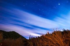 Lång exponering av himmel Arkivfoto