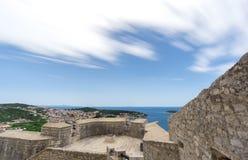 Lång exponering från den spanska fästningen, Hvar Royaltyfri Bild