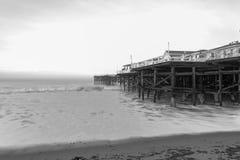 Lång exponering på Crystal Pier Royaltyfri Fotografi