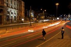 Lång exponering på Istanbul, Karakoy Royaltyfria Foton