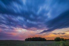 Lång exponering på solnedgången fotografering för bildbyråer