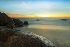 Lång exponering under soluppgång, Malaysia Royaltyfri Bild