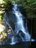 Lång exponeringsbakgrund för alaskabo vattenfall Arkivbilder