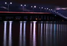 Lång exponeringsbro arkivfoto