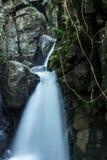 Lång exponeringsframdel på sikt av vattenfallet Royaltyfri Bild