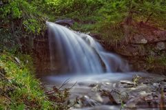 Lång exponeringsvattenfall Arkivfoton