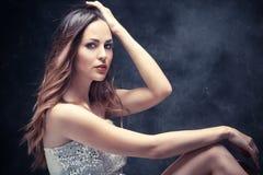 Lång hårskönhet fotografering för bildbyråer