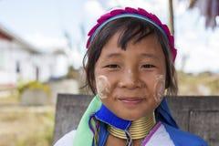 Lång-hals barn, Myanmar Fotografering för Bildbyråer
