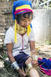 Lång-hals kvinna, Myanmar Royaltyfria Foton