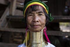 Lång-hals kvinna, Myanmar Royaltyfri Foto