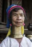 Lång-hals kvinna, Myanmar Fotografering för Bildbyråer