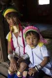 Lång-hals kvinna, Myanmar Royaltyfri Bild