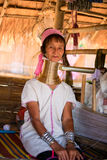 Lång halsdam Kayan röda Karen (Karenni) royaltyfri fotografi