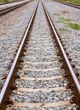 lång järnväg Royaltyfri Fotografi