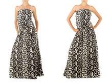 Lång klänning med den orientaliska prydnaden Royaltyfria Bilder