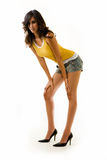 lång kvinna för ben Arkivfoto