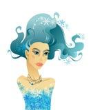 lång kvinna för härligt hår Royaltyfria Bilder