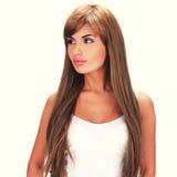 lång kvinna för härligt hår Royaltyfria Foton