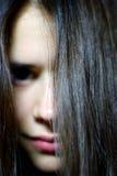 lång kvinna för hår Arkivbild