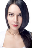 lång kvinna för hår Arkivfoto